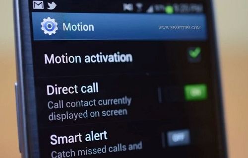factory reset galaxy s3 -Motion