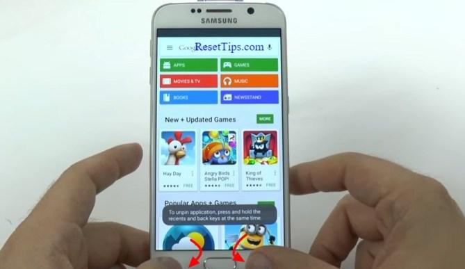 hard reset Galaxy S6 - hidden feature-31