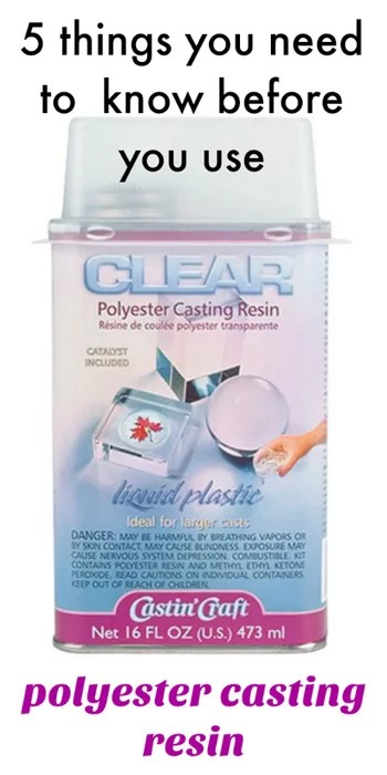 how to use clear polyester casting resin