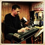 "Chris Walke records pedal steel on ""Jesus Loves Me"" at The Dragon Room, Lombard, IL."