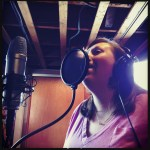 "Heidi Malcolm records vocals on ""God is so Good"" at The Dragon Room, Lombard, IL."