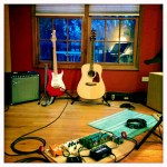 Two guitars. A typical hymn-sing setup.