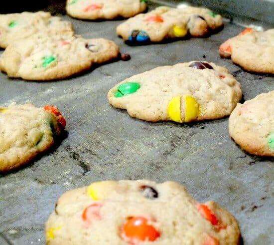 m & ms cookies