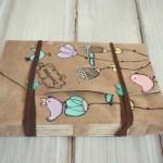 jurnal handmade piele - pasari flori1