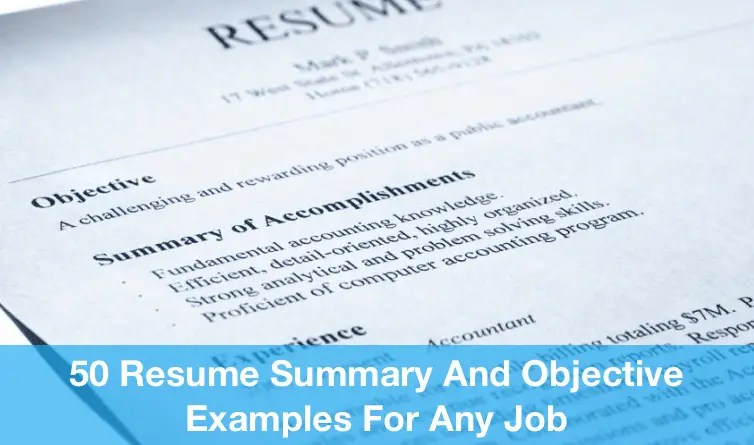 Job Resume For Any Job