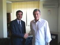 Il Presidente Gambacorta incontra il Comandante dei Vigili del Fuoco, Barbarulo.