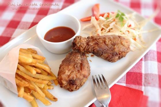 pulpe de pui in crusta crocanta, fried chicken stil KFC