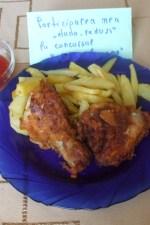 Pulpe si aripioare de pui in crusta crocanta, fried chicken by dana_radu23