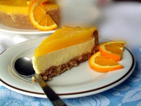 cheesecake cu portocale