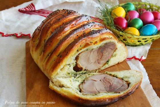 pulpa de porc coapta in paine 3-1