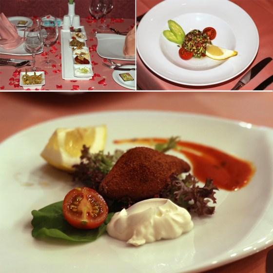 mezze, aperitiv cald, salata la royal holiday palace