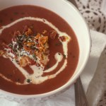 Supa crema de cartofi si sfecla rosie
