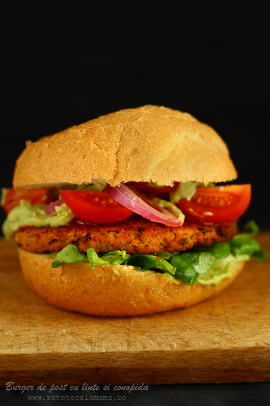burger de post cu linte si conopida s