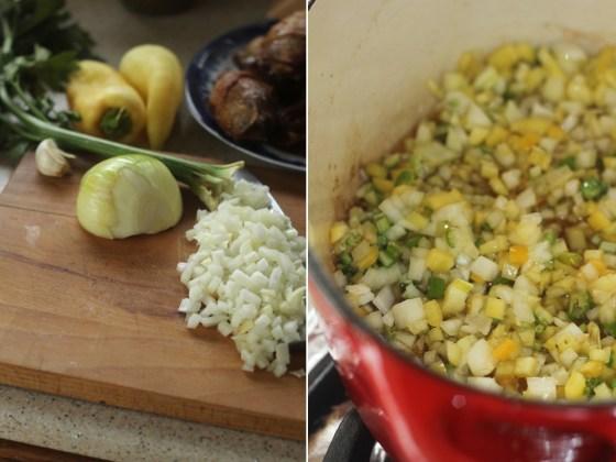 pilaf cu carne de pui preparare 2