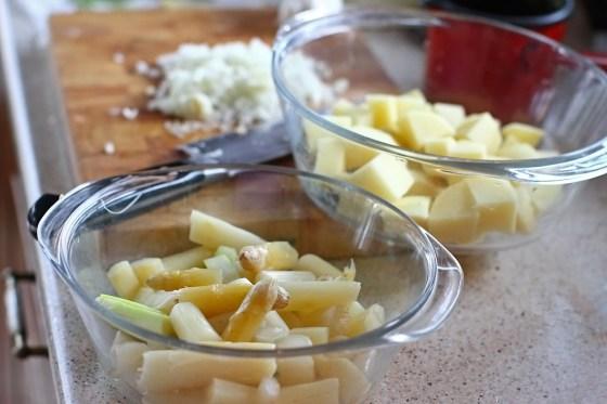 preparare crema de sparanghel alb 1