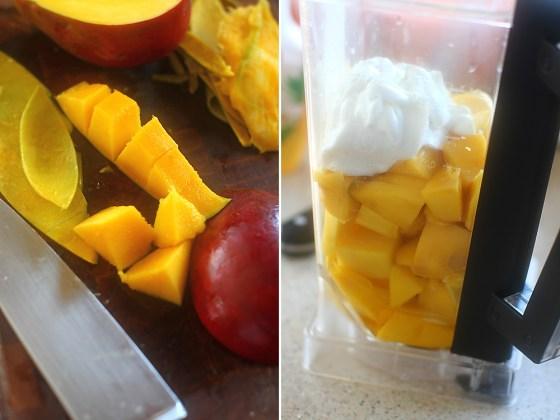 preparare sorbet de mango 1