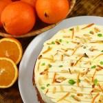 Prajitura fara faina cu portocale si crema philadelphia