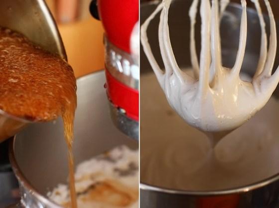 preparare crema de unt cu bezea italiana si cafea 2