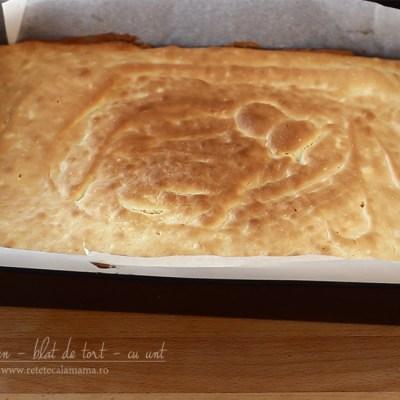 Pandișpan – blat de tort – cu unt, rețetă video