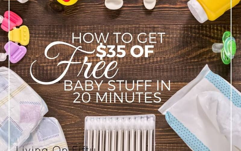 How To Get $35 In Free Baby Stuff In 20 Minutes