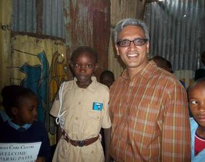 Parag Patel with Girl Scouts, Kenya, via FICCS