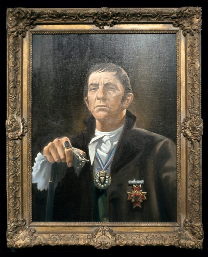 Portrait of Barnabas Collins that hung in the main foyer of Collinwood mansion.