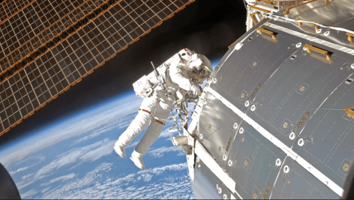 Astronaut at the International Space Station