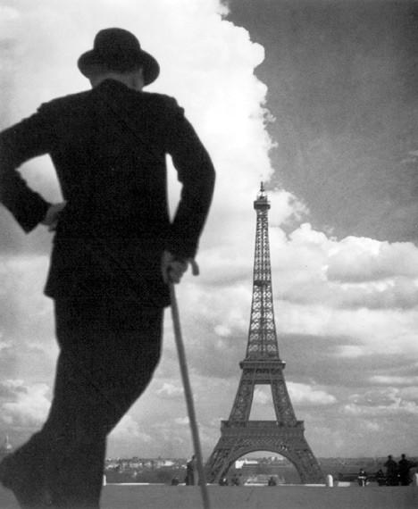 Vintage Man Eiffel Tower
