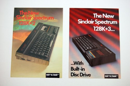 My favourite brochures: Sinclair Zx Spectrum 128 +2 and +3