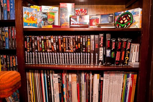 Shelf closeup - Sega Saturn