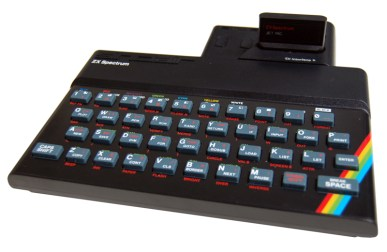 ZX Spectrum 48K with ZX Interface 2 and ROM cartridge