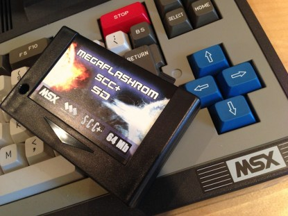 MSX MegaFlashROM on Toshiba HX-10