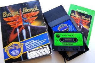 The contents of the box showing the Phaser Patrol cassette.