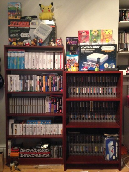 The Nintendo shelves