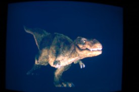 The 'controllable' T-Rex in all his snarly glory