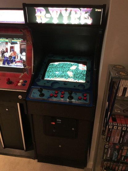 New Video Wizard cab customised to R-Type with original Irem R-Type PCB set