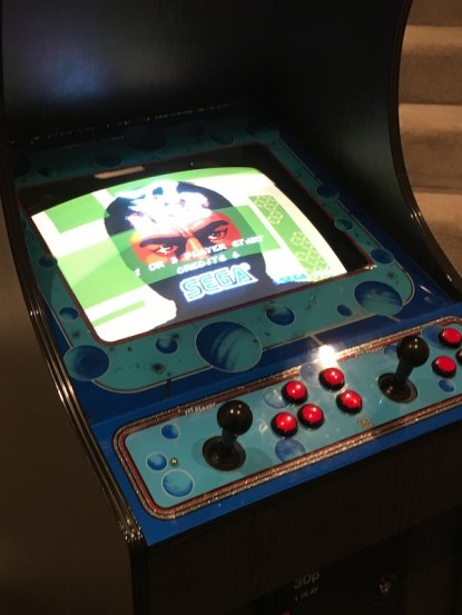 Shinobi original board set playing in Video Wizard cab