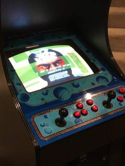 Shinobi original board set playing in Video Wizard cab
