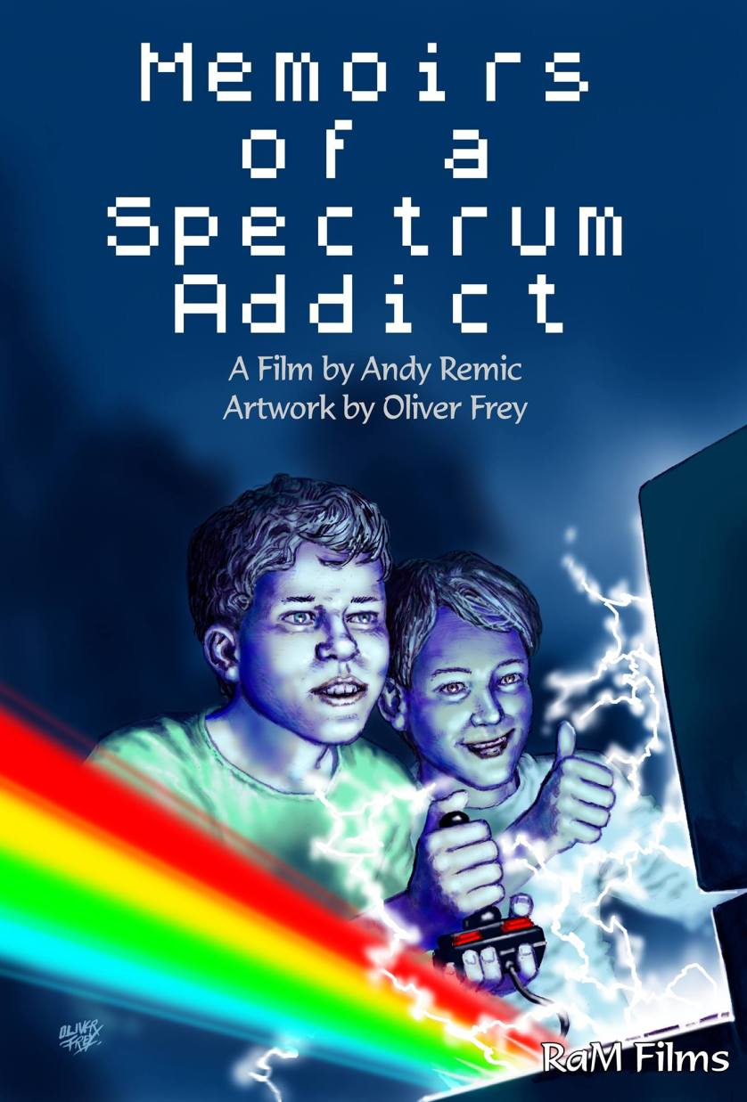 Memoirs of a Spectrum Addict cover by Oliver Frey