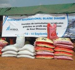 Lot de don de nourritures distrubués aux populations recasées