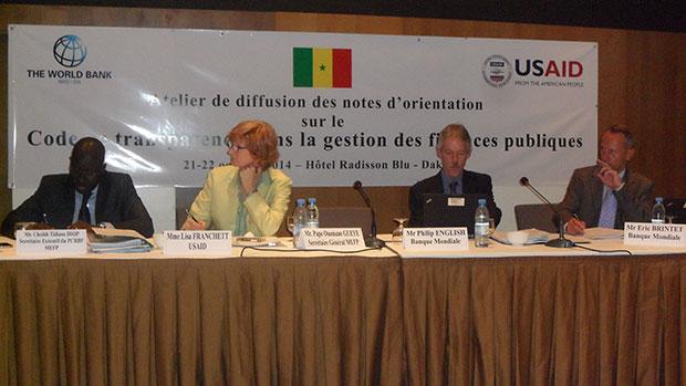 De gauche à droite Cheikh Tidiane Diop, Lisa Francket Phillip English et Eric Brintet