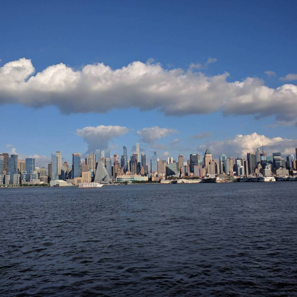 view of manhattan upper west side from ny ferry