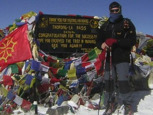 Gregor Stratmann im nepalesischen Himalaya am Thorong-La Pass, 5416m ü. N.N.