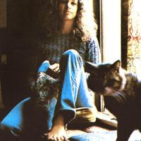 Carole King and a Cat