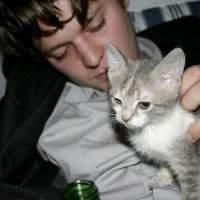 Zach Condon With A Cat