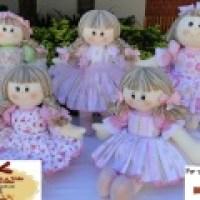 Bonecas de pano para presente de Natal - lindas fotos
