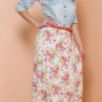 Saia longa florida: moda alto verão 2015, fotos de looks