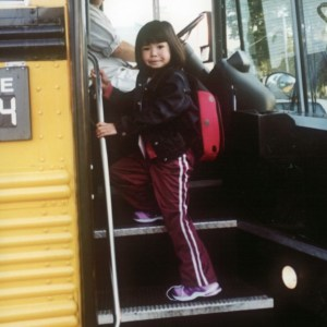Evelyn on the Bus