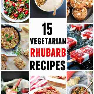 15 of the BEST vegetarian rhubarb recipes from around the web!