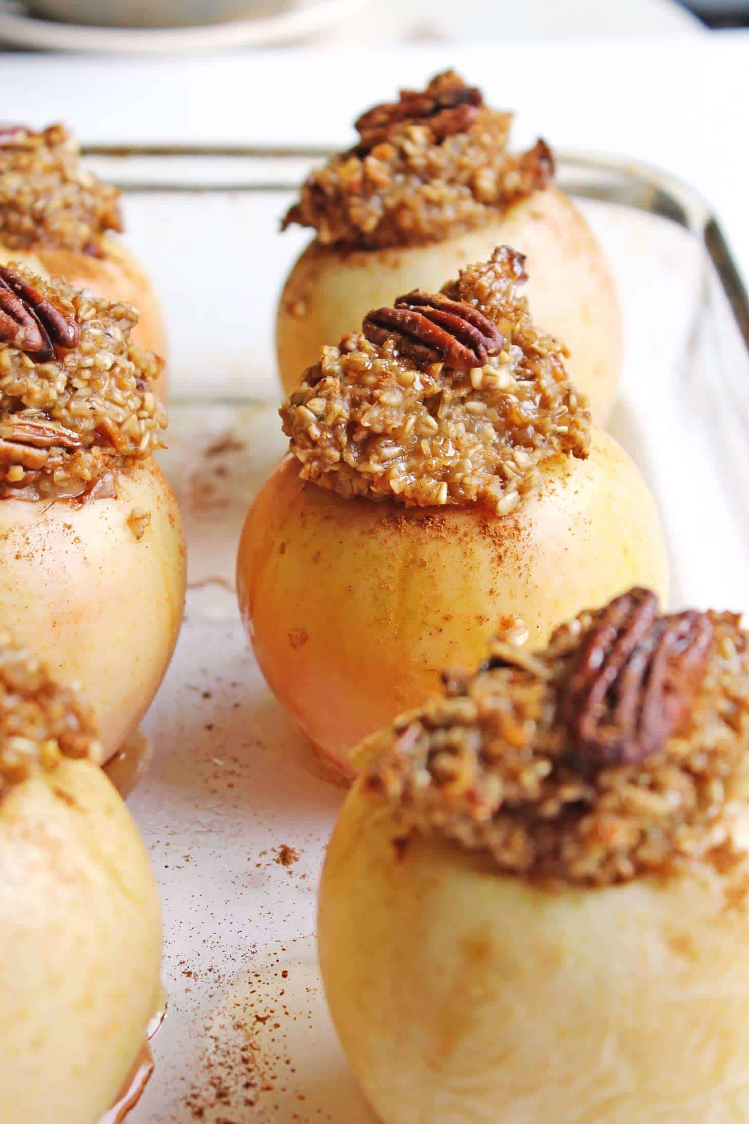 Maple pecan steel cut oatmeal baked apples recipe! This simple and ...